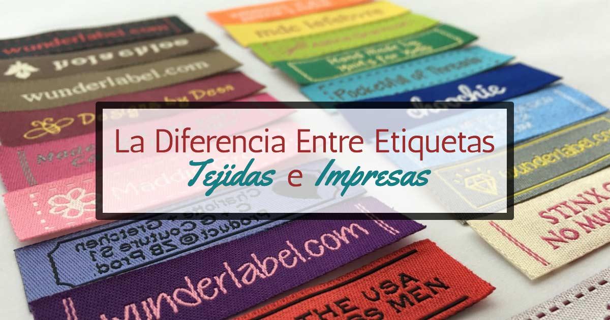 La Diferencia Entre Etiquetas Tejidas e Impresas