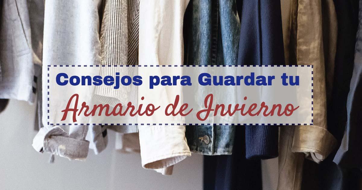 consejos guardar almacenar armario ropa invierno