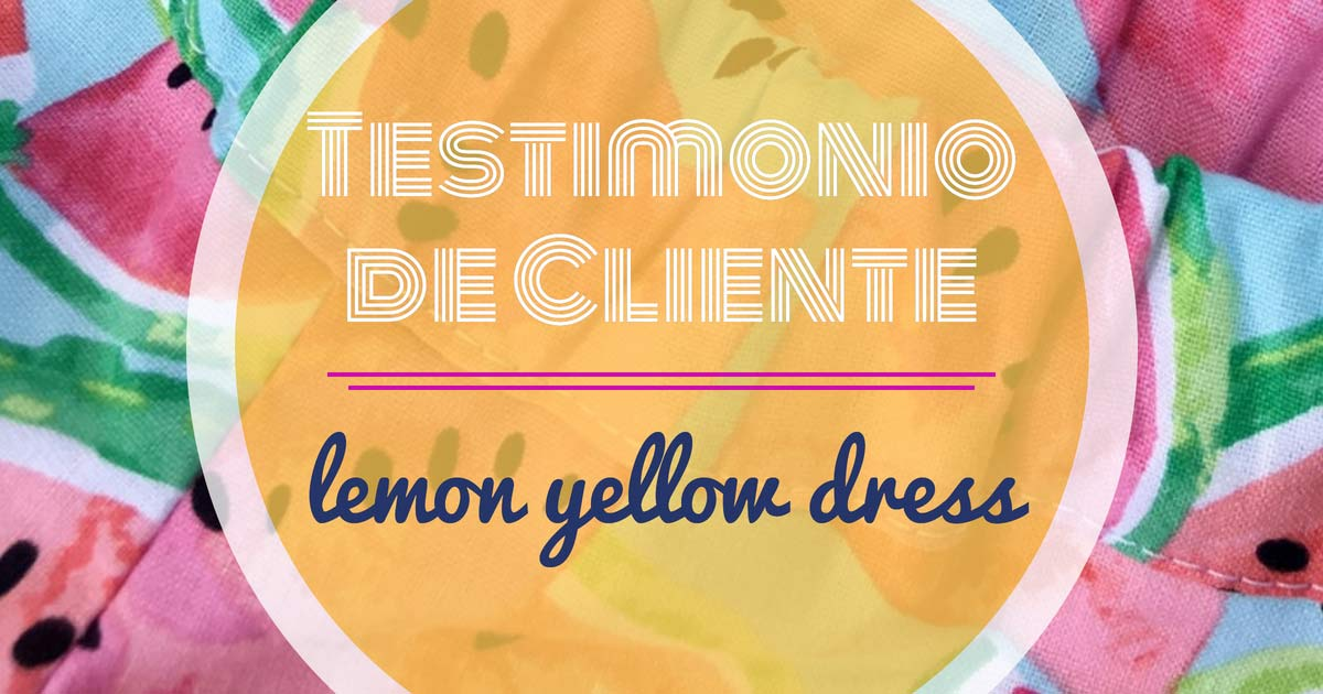 Cliente opinión Lemon Yellow Dress wunderlabel