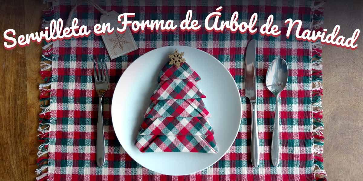 tutorial diy servilleta navideña arbol de navidad