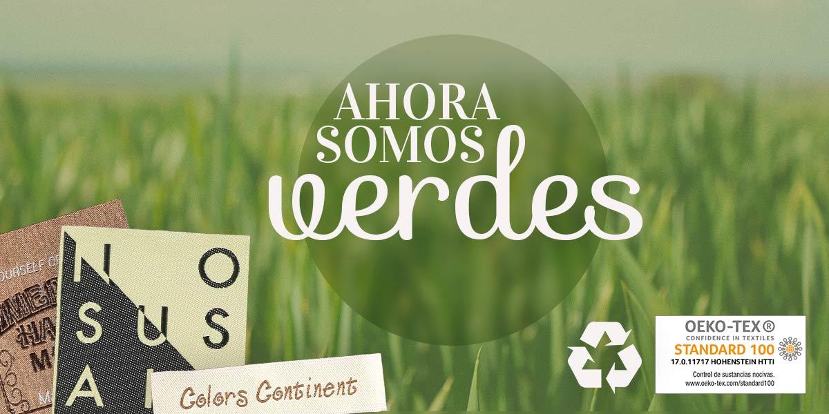 ¡Ya Somos Verdes! Etiquetas Recicladas