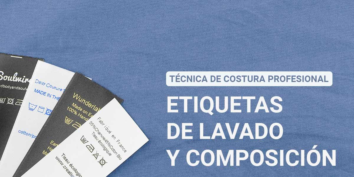 Costura Profesional Etiquetas de Lavado y Composición wunderlabel españa