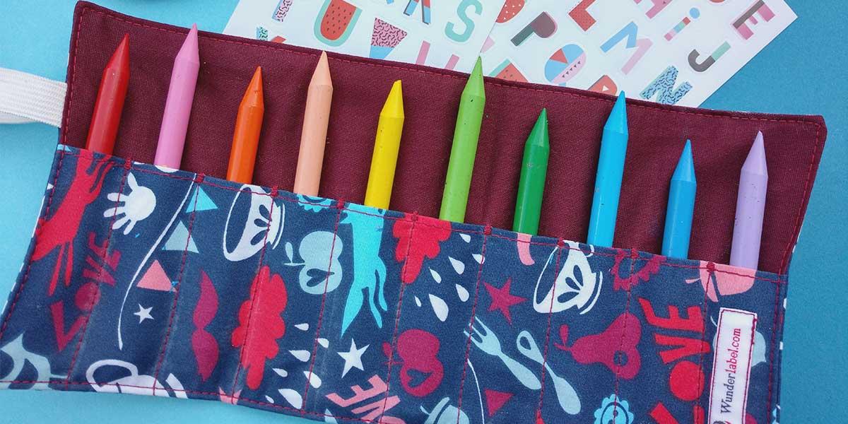 DIY Estuche para lápices de tela