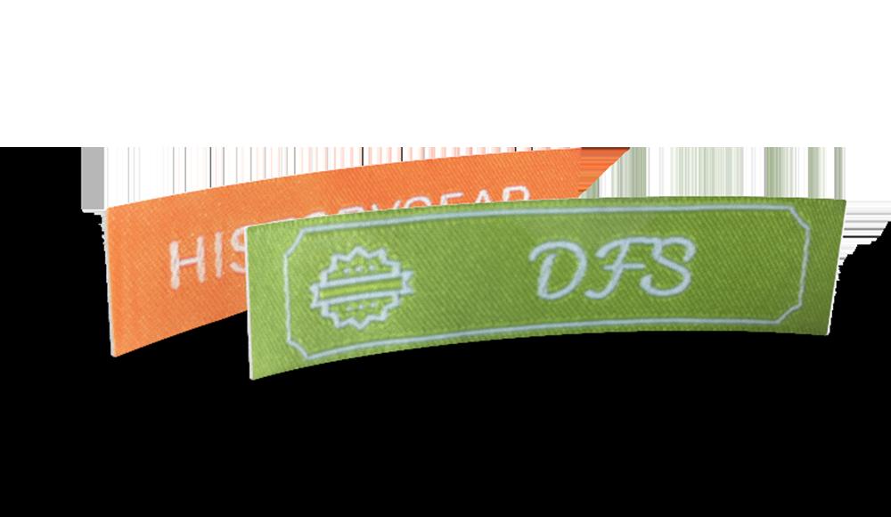 Etiquetas Tejidas Clásicas con Texto & Símbolo - diseño online