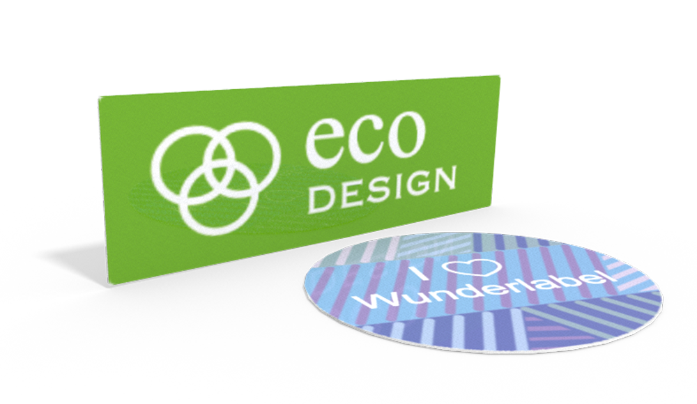 Pegatinas Clásicas con Texto & Símbolo - diseño online