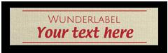 Etiquetas de algodón para ropa - con texto y símbolo