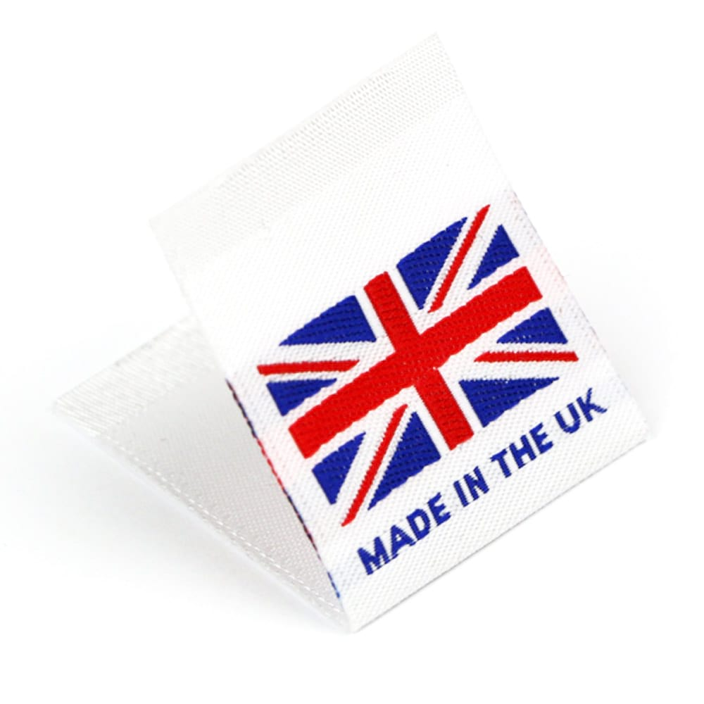 Etiquetas Tejidas con Bandera 'Made in the UK'