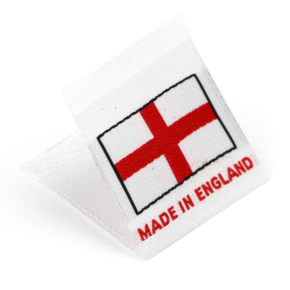 Etiquetas Tejidas con Bandera 'Made in England'