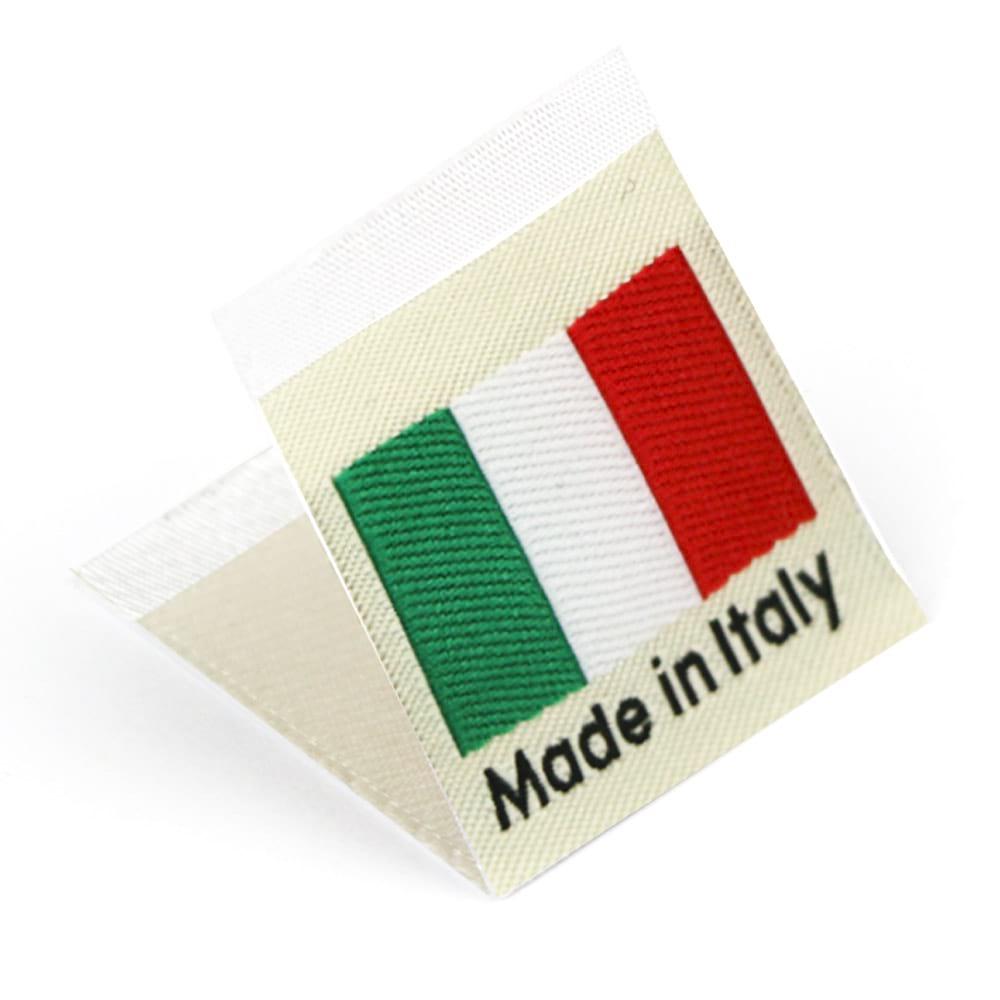 Etiquetas Tejidas con Bandera 'Made in Italy'