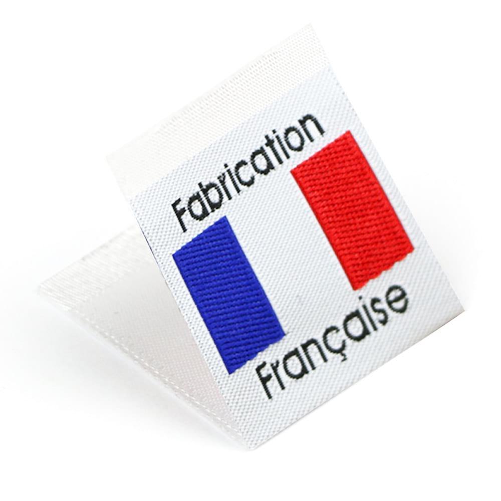 Etiquetas Tejidas con Bandera 'Fabrication Française'