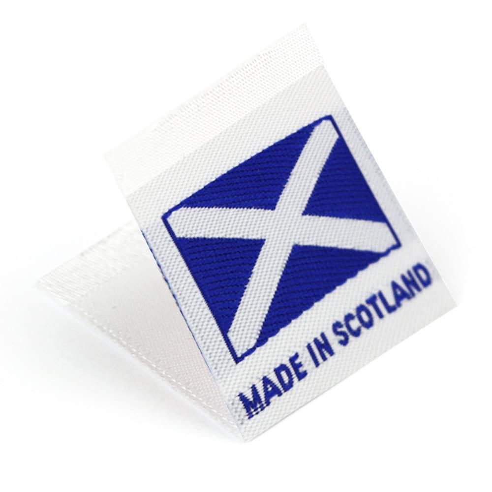 Etiquetas Tejidas con Bandera 'Made in Scotland'