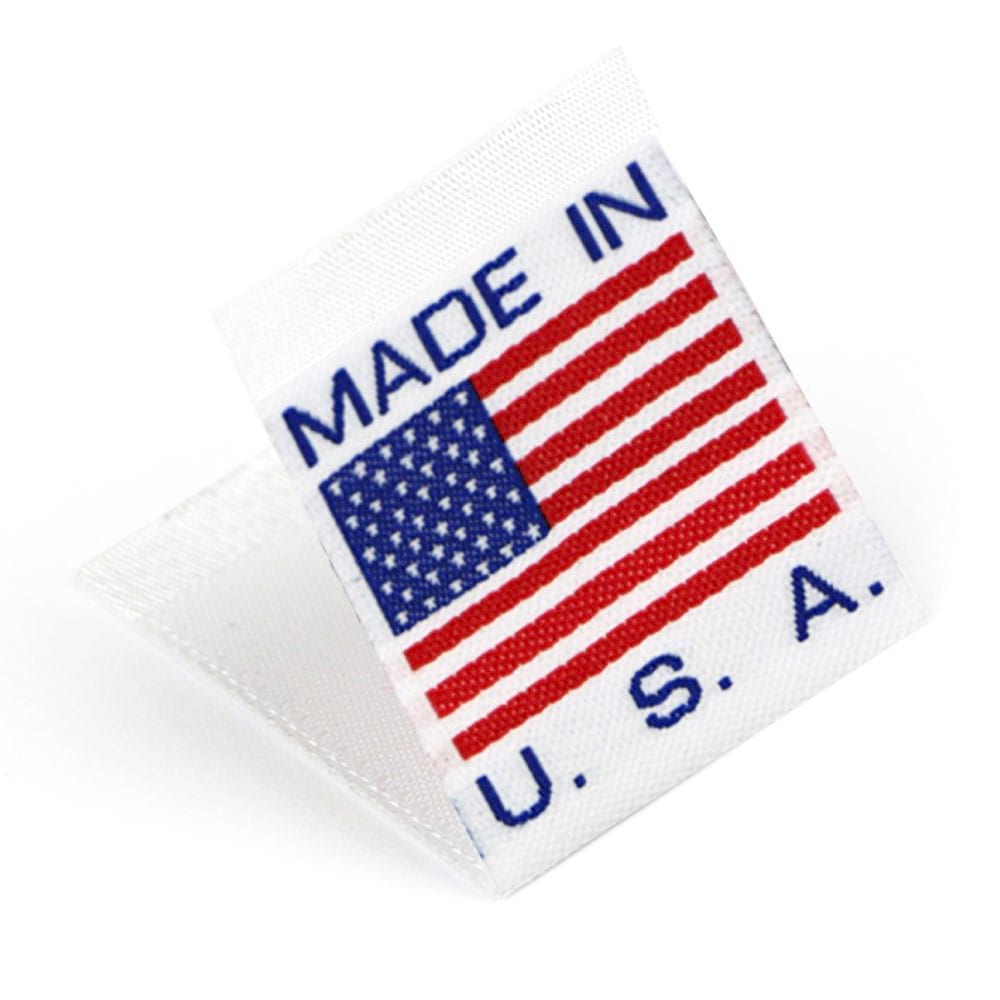 Etiquetas Tejidas con Bandera 'Made in USA'