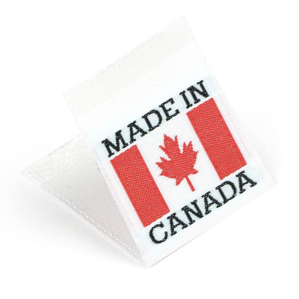 Etiquetas Tejidas con Bandera 'Made in Canada'