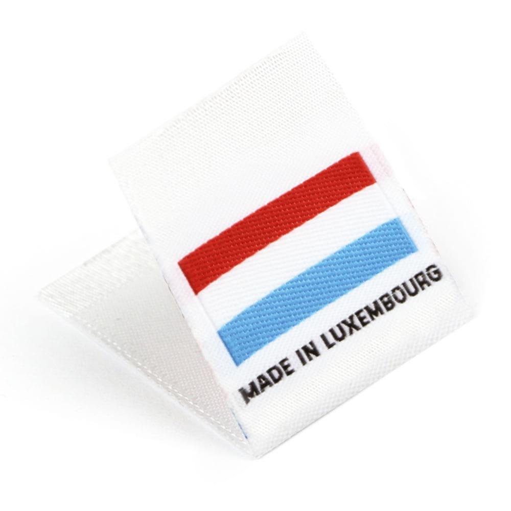 Etiquetas Tejidas con Bandera 'Made in Luxembourg'