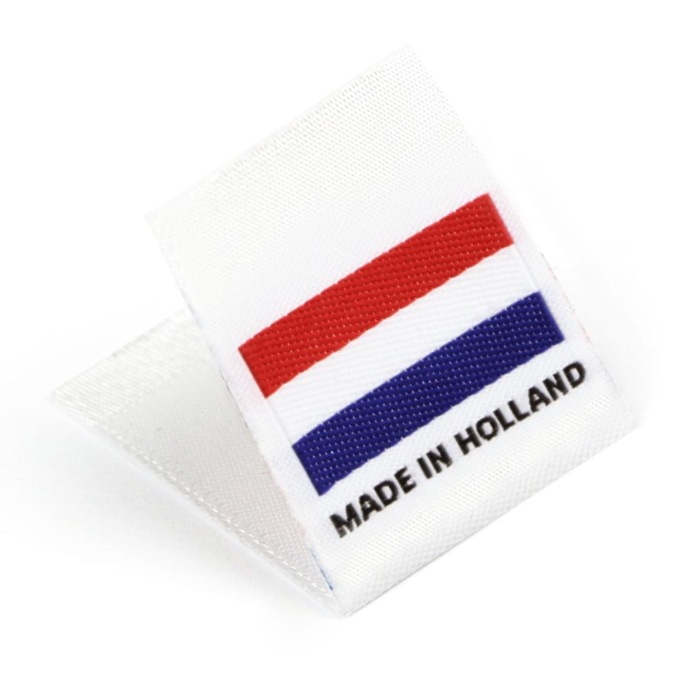Etiquetas Tejidas con Bandera 'Made in Holland'
