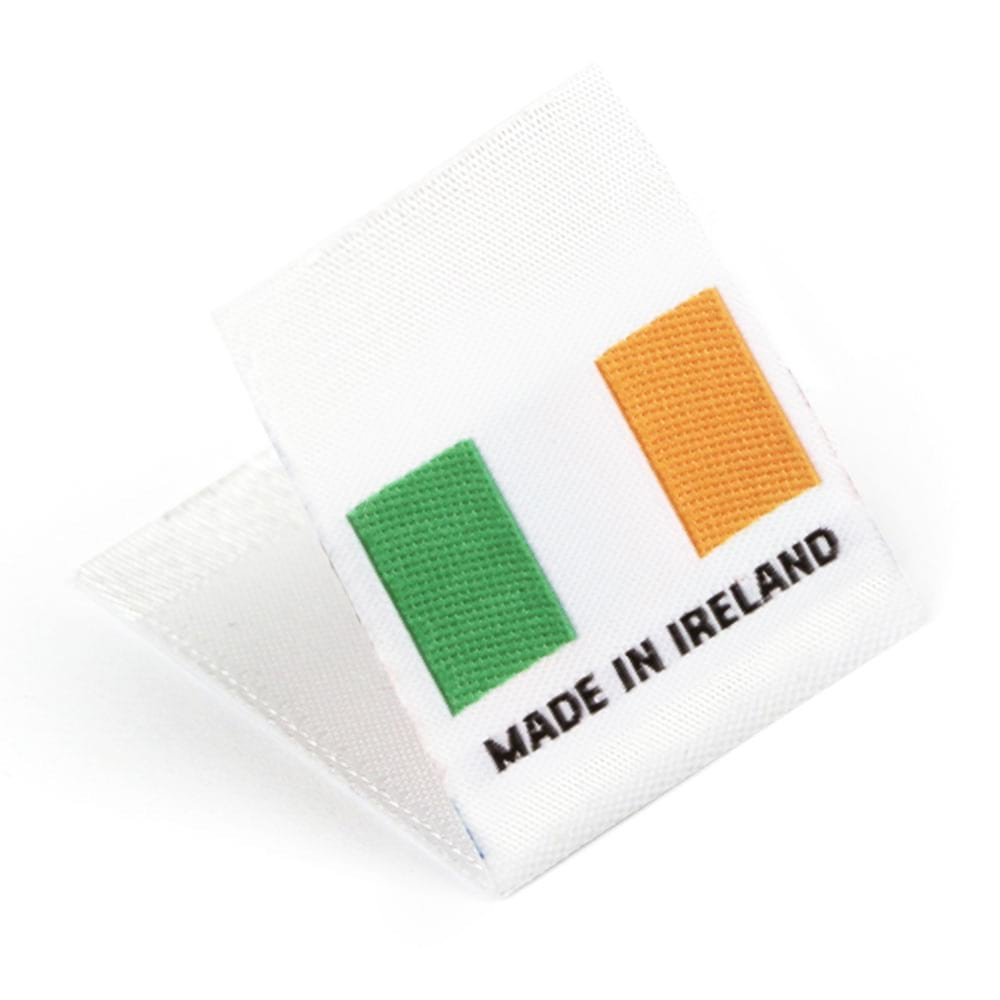 Etiquetas Tejidas con Bandera 'Made in Ireland'