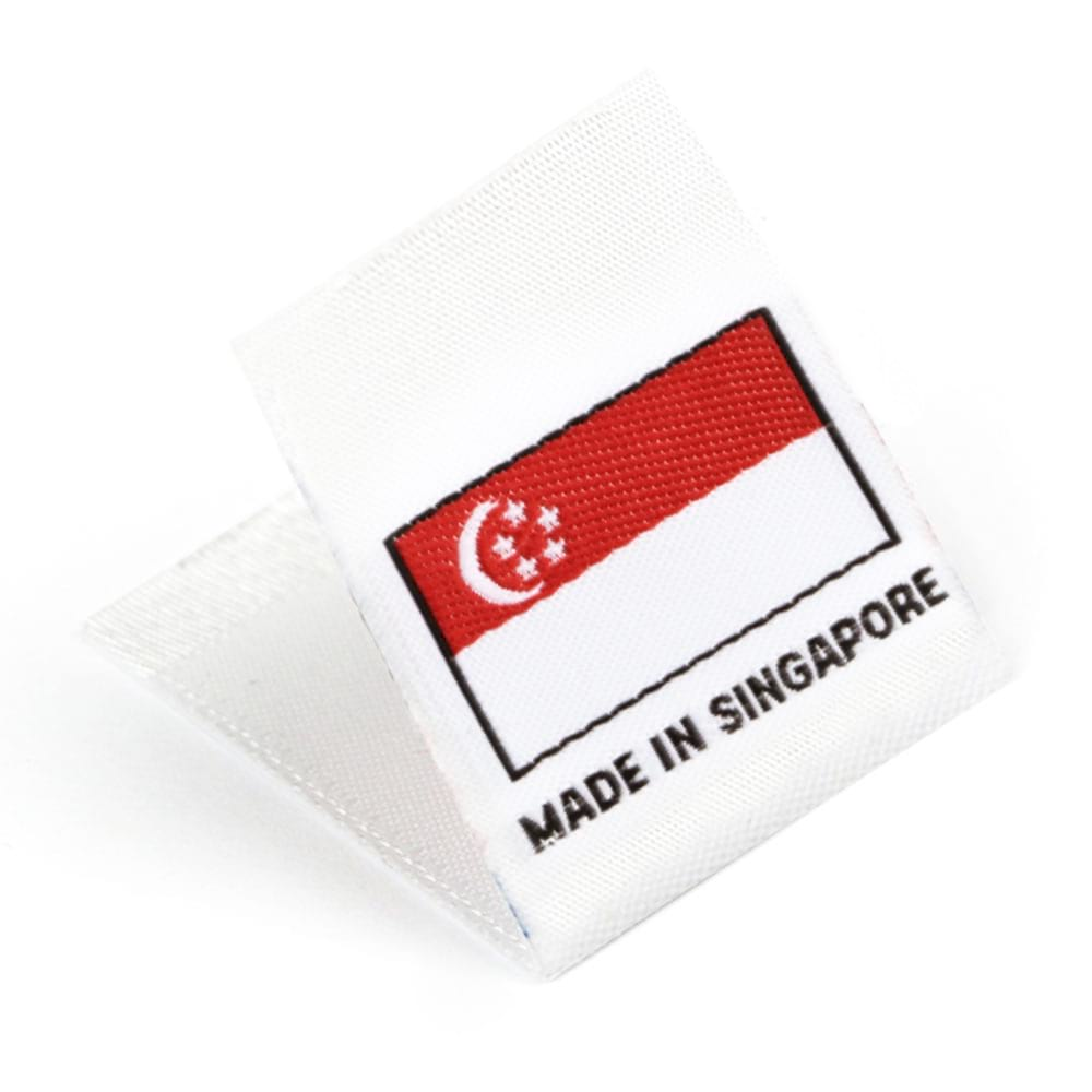 Etiquetas Tejidas con Bandera 'Made in Singapore'