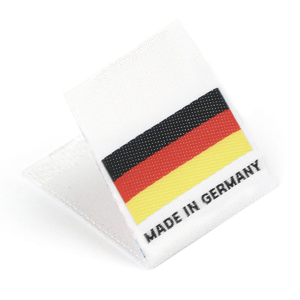 Etiquetas Tejidas con Bandera 'Made in Germany'