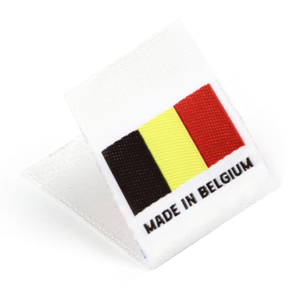 Etiquetas Tejidas con Bandera 'Made in Belgium'